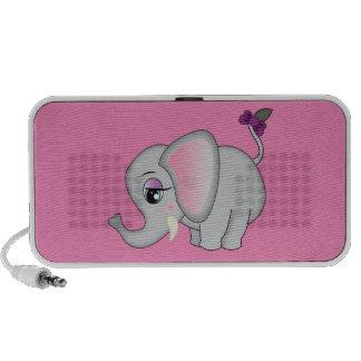 Éléphant mignon haut-parleurs portables