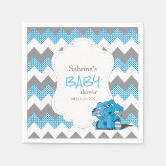Éléphant mignon idiot bleu drôle de bébé de serviettes jetables