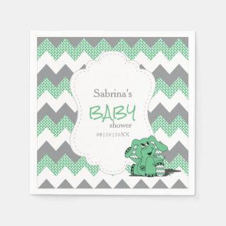 Éléphant mignon idiot vert drôle de bébé de serviettes en papier