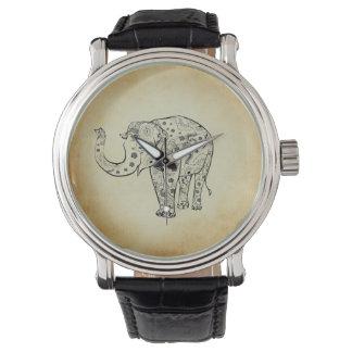 Éléphant modelé montres bracelet