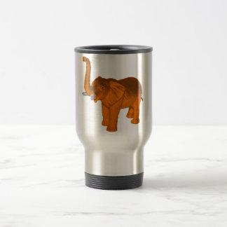 Éléphant orange mug de voyage