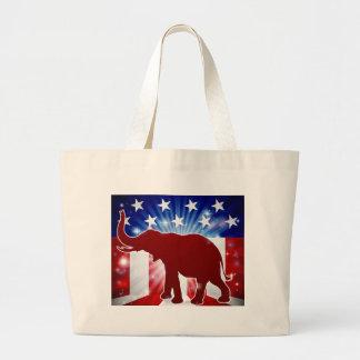 Éléphant politique de républicain de mascotte grand tote bag