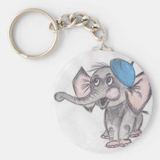 Éléphant Porte-clé Rond