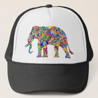 Éléphant psychédélique casquette