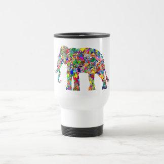 Éléphant psychédélique mug de voyage