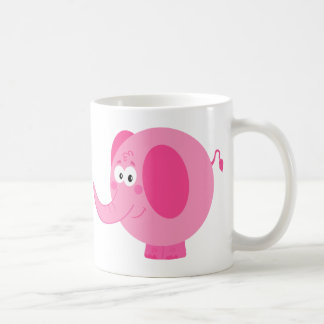 Éléphant rose mignon mug
