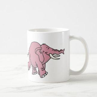 Éléphant rose mug