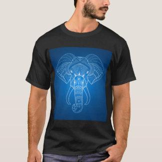 Éléphant sérieux deux - le T-shirt foncé de base
