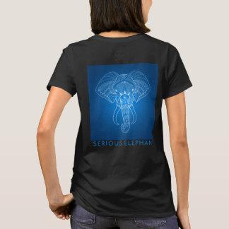 Éléphant sérieux deux - T-shirt bilatéral