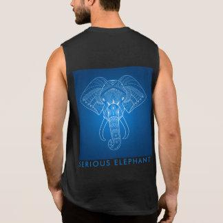 Éléphant sérieux deux - T-shirt sans manche