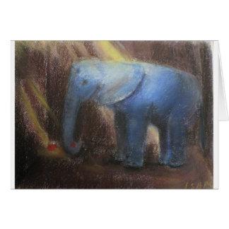éléphant seul carte de vœux