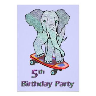 Éléphant sur le 5ème anniversaire de planche à bristol