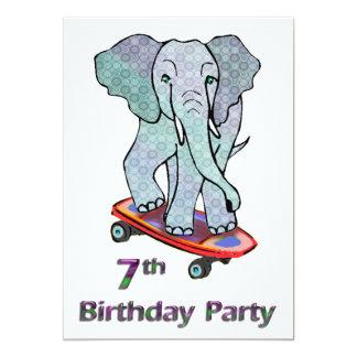 Éléphant sur le 7ème anniversaire de planche à bristol