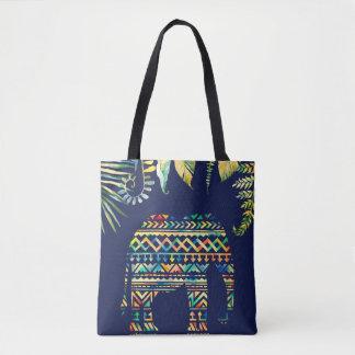 Éléphant tribal géométrique de jungle de motif sac