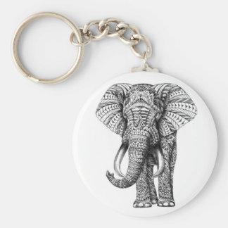 éléphant tribal porte-clé rond