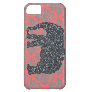 Éléphant Vinatge de damassé de StellaRoot de très Coque iPhone 5C