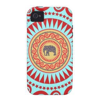 Éléphant Vinatge de damassé de StellaRoot de très Coques iPhone 4/4S