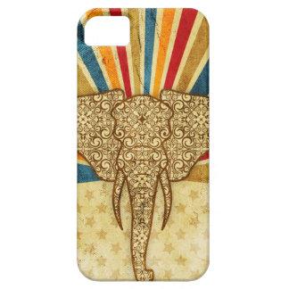 Éléphant vintage de cirque de damassé iPhone 5 case