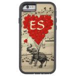 Éléphant vintage et ballons rouges de coeur coque iPhone 6 tough xtreme