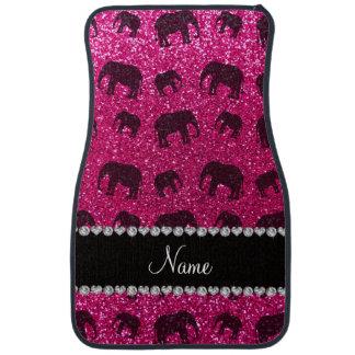 Éléphants au néon nommés personnalisés de tapis de voiture