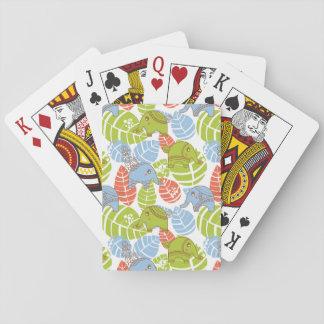 Éléphants colorés de jungle cartes à jouer
