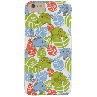 Éléphants colorés de jungle coque barely there iPhone 6 plus