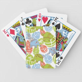 Éléphants colorés de jungle jeu de cartes