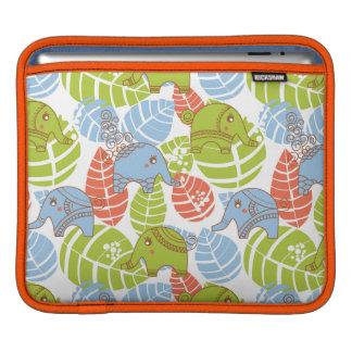 Éléphants colorés de jungle poches pour iPad