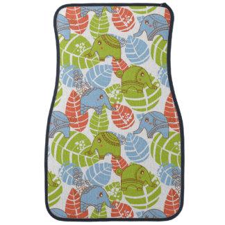 Éléphants colorés de jungle tapis de sol