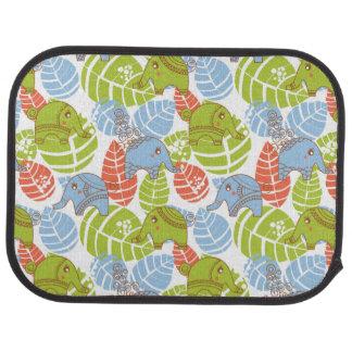 Éléphants colorés de jungle tapis de voiture