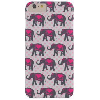 Éléphants de roses indien assez gris sur le pois coque barely there iPhone 6 plus