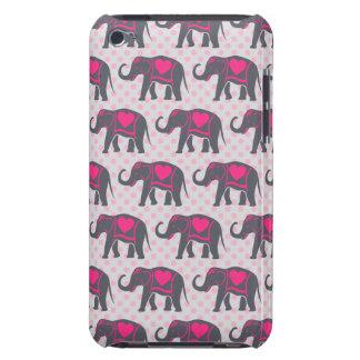Éléphants de roses indien assez gris sur le pois coque iPod touch