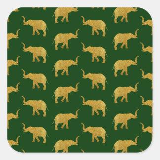 Éléphants d'or de son de la trompette