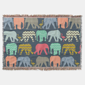 éléphants et flamants de bébé de baby shower