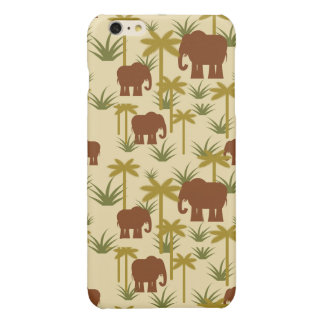 Éléphants et paumes dans le camouflage