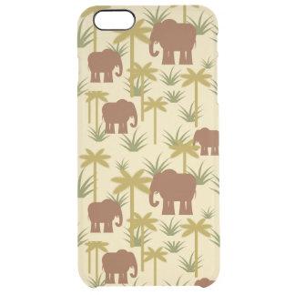 Éléphants et paumes dans le camouflage coque iPhone 6 plus
