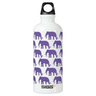 Éléphants pourpres bouteille d'eau en aluminium