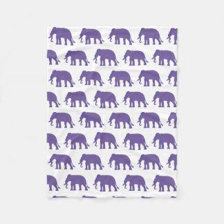 Éléphants pourpres couverture polaire