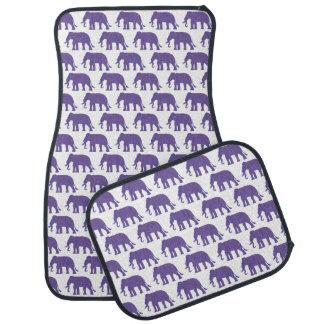 Éléphants pourpres tapis de sol