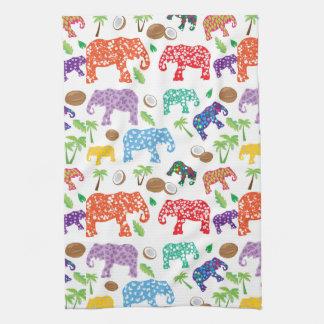 Éléphants tropicaux linge de cuisine