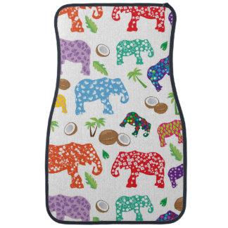 Éléphants tropicaux tapis de sol
