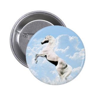 Élevage blanc de cheval d étalon pin's avec agrafe