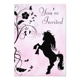 Élevage de l'invitation d'anniversaire de cheval carton d'invitation  12,7 cm x 17,78 cm