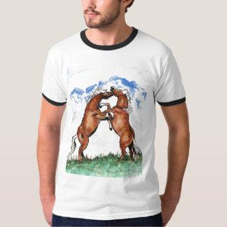 Élevage du T-shirt du contraste des hommes de