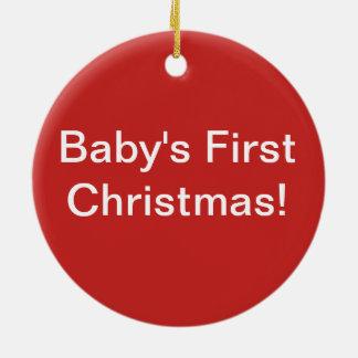 Élevez ornement de Noël du bébé d'amour le premier