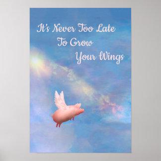 Élevez votre affiche d'ailes poster