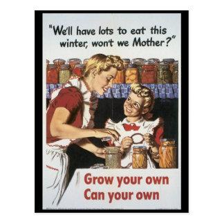 Élevez votre guerre mondiale de nourriture 2 carte postale