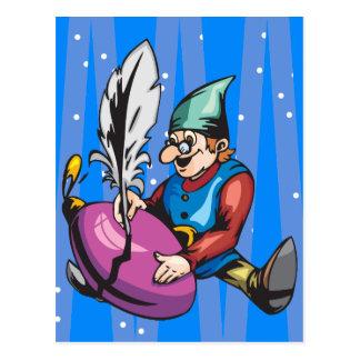 Elf décorant l'ornement de Noël Carte Postale