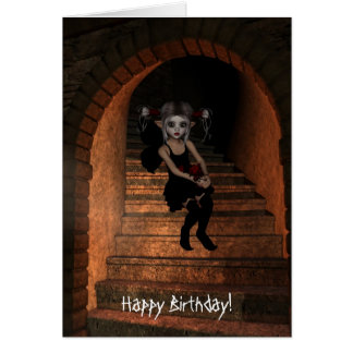 Elf féerique DarkWolf Raven le joyeux anniversaire Cartes