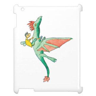 Elf montant un dragon vert coque pour iPad